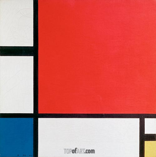 Composition with Red, Yellow, Green, 1930 | Mondrian | Painting Reproduction