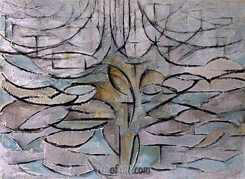 Blossoming Apple Tree, 1912 | Mondrian| Painting Reproduction