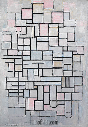 Composition no. IV, 1914 | Mondrian | Painting Reproduction