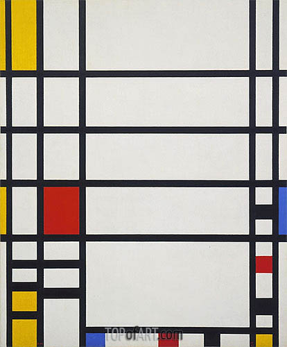 Trafalgar Square, c.1939/43 | Mondrian | Painting Reproduction