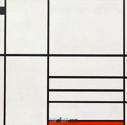 Mondrian | Composition in White, Black and Red, 1936