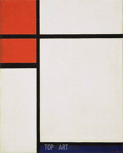 Composition with Red and Blue, 1933 | Mondrian | Painting Reproduction