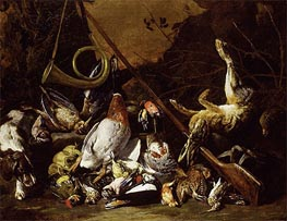 Still Life of Game, c.1650/55 by Pieter Boel | Painting Reproduction