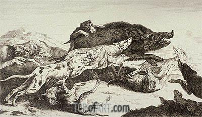 Pieter Boel | The Boar Hunting, undated
