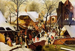 The Adoration of the Magi, Undated by Pieter Bruegel the Younger | Painting Reproduction