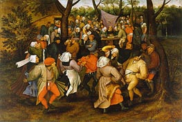 Peasant Wedding Dance, 1607 by Pieter Bruegel the Younger | Painting Reproduction
