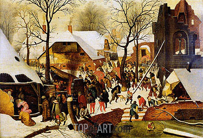 The Adoration of the Magi,  | Pieter Bruegel the Younger | Painting Reproduction