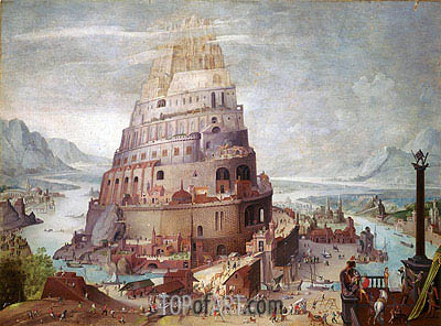 Tower of Babel, a.1563 | Pieter Bruegel the Younger | Gemälde Reproduktion