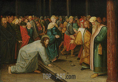 Pieter Bruegel the Younger | Christ and the Woman Taken in Adultery, c.1600