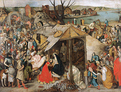 The Adoration of the Magi, c.1595 | Pieter Bruegel the Younger| Painting Reproduction