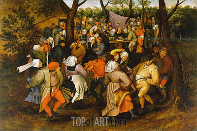 Peasant Wedding Dance, 1607 | Pieter Bruegel the Younger| Gemälde Reproduktion