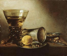 Still Life with Roemer, 1644 by Pieter Claesz | Painting Reproduction
