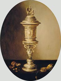 Still Life with the Covered Cup of the Haarlem Brewer's Guild, 1641 von Pieter Claesz | Gemälde-Reproduktion