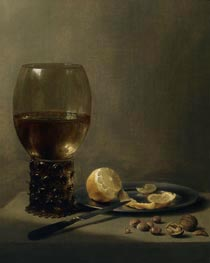 Still Life with a Large Roemer, undated von Pieter Claesz | Gemälde-Reproduktion
