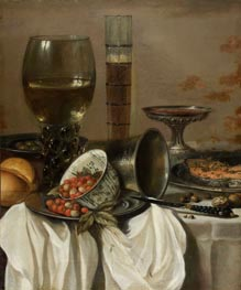 Still Life with Drinking Vessels, 1649 by Pieter Claesz | Painting Reproduction
