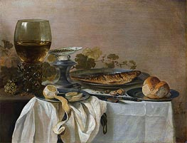 Still Life with Fish | Pieter Claesz | Painting Reproduction