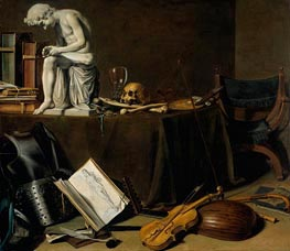 Vanitas Still Life with the Spinario | Pieter Claesz | Painting Reproduction