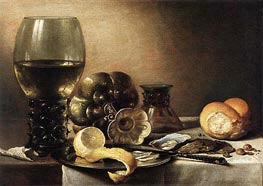 Oyster Breakfast | Pieter Claesz | Painting Reproduction
