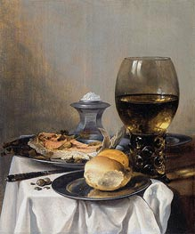 Still Life with Saltcella | Pieter Claesz | Painting Reproduction