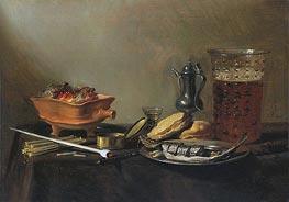 Still Life with Pipe | Pieter Claesz | Gemälde Reproduktion