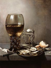 Still Life with Oysters | Pieter Claesz | Gemälde Reproduktion