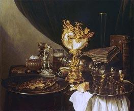 Still Life with a Nautilus Cup | Pieter Claesz | Gemälde Reproduktion