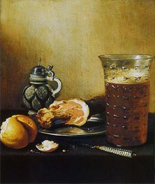 Still Life with a Ham | Pieter Claesz | Gemälde Reproduktion