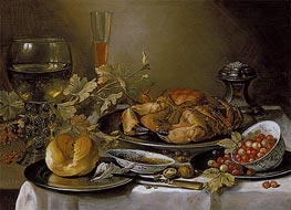Still Life with Crab | Pieter Claesz | Gemälde Reproduktion