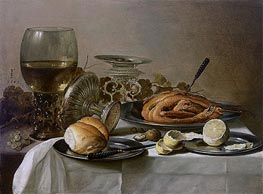 Still Life with Roemer, 1647 by Pieter Claesz | Painting Reproduction
