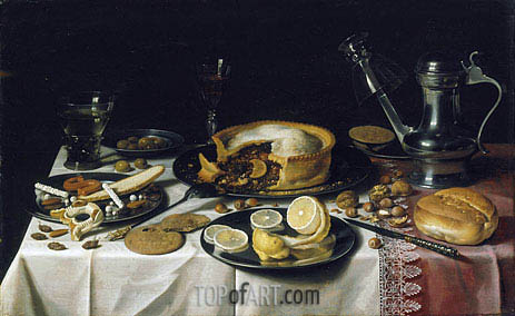 Still Life, c.1625/30 | Pieter Claesz | Painting Reproduction