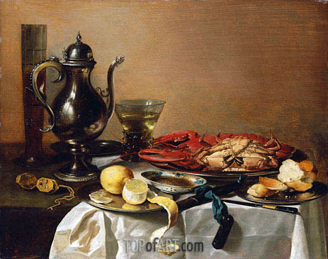 Still Life, 1643 | Pieter Claesz| Painting Reproduction