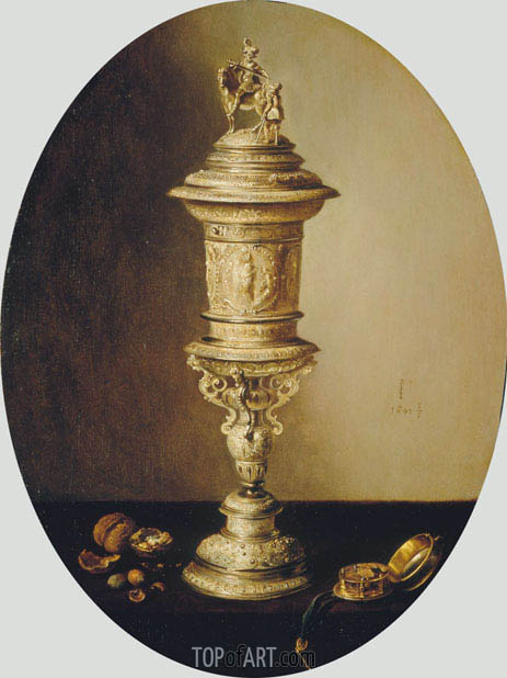 Pieter Claesz | Still Life with the Covered Cup of the Haarlem Brewer's Guild, 1641