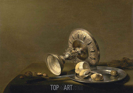 Still Life with a Tazza, undated | Pieter Claesz| Gemälde Reproduktion