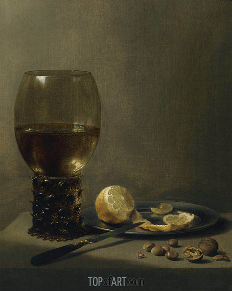 Still Life with a Large Roemer, undated | Pieter Claesz| Painting Reproduction