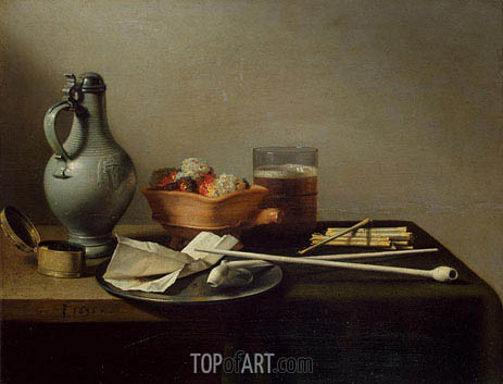 Pieter Claesz | Still Life with Clay Pipes, 1636