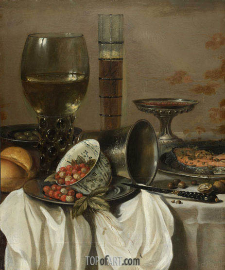 Still Life with Drinking Vessels, 1649 | Pieter Claesz | Gemälde Reproduktion