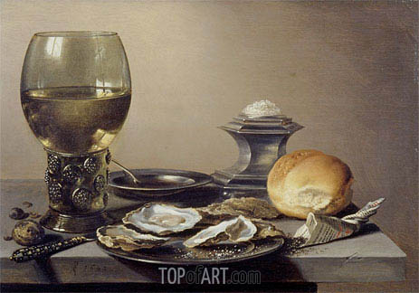 Pieter Claesz | Still Life with Roemer and Oysters, 1642