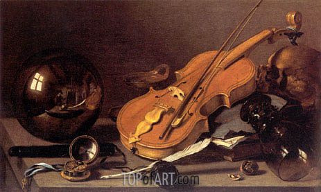 Vanitas Still Life, c.1628/30 | Pieter Claesz| Painting Reproduction