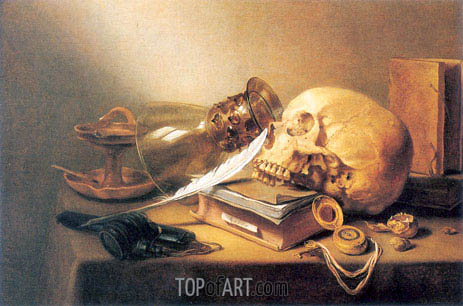 A Vanitas Still Life, 1645 | Pieter Claesz| Painting Reproduction