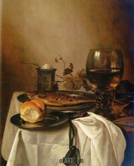 A Still Life of a Roamer, 1664 | Pieter Claesz| Painting Reproduction