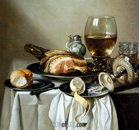Stil Life, 1643 | Pieter Claesz| Painting Reproduction