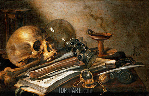 Vanitas Still-Life, 1656 | Pieter Claesz| Painting Reproduction