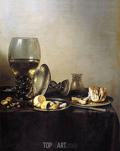 Still Life, 1637 | Pieter Claesz| Painting Reproduction