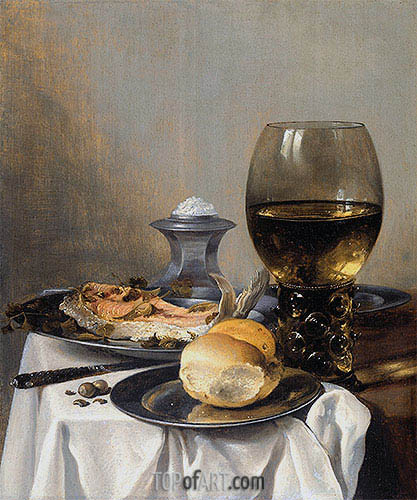 Pieter Claesz | Still Life with Saltcella, c.1640/45