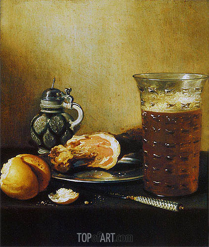 Still Life with a Ham, 1642 | Pieter Claesz| Painting Reproduction