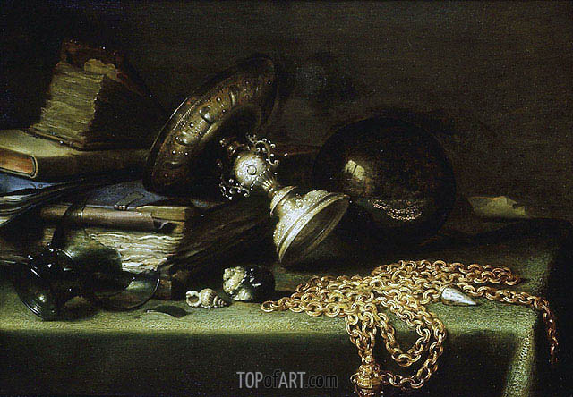 Pieter Claesz | Still Life with a Gold Chain, c.1636
