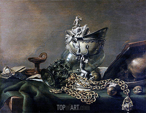 Vanitas Still Life, 1634 | Pieter Claesz | Painting Reproduction