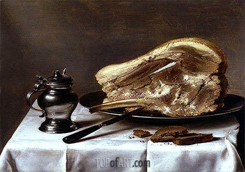 Still Life, c.1635 | Pieter Claesz | Gemälde Reproduktion
