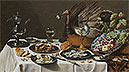 Still Life with Turkey Pie | Pieter Claesz