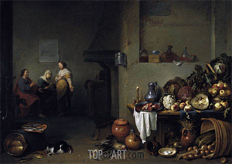 Christ in the House of Mary and Martha, 1637 | Pieter de Bloot | Painting Reproduction
